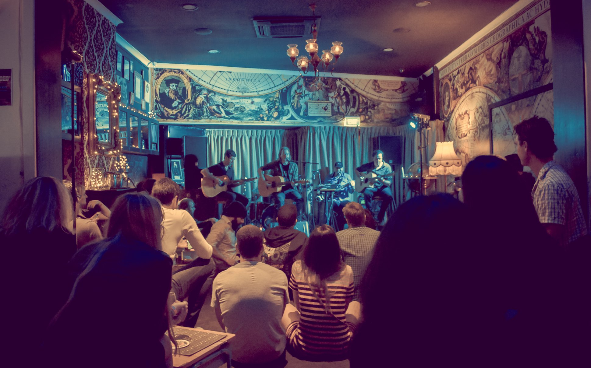 Playing at The Classroom, Perth - The Brown Study Band